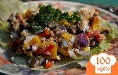 Фото рецепта: «Салат с цыпленком и перцем»