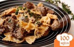 Фото рецепта: «Паста с индейкой и грибами»