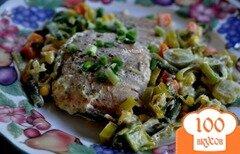 Фото рецепта: «Семга с зеленью и сметаной»