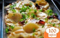 Фото рецепта: «Картофельная запеканка с беконом и яблоками»