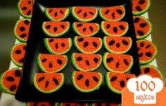 Фото рецепта: «Печенье Арбузные дольки»