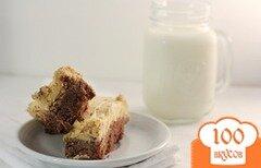 Фото рецепта: «Брауни с арахисовым кремом»
