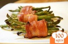 Фото рецепта: «Зеленая фасоль с беконом»