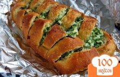 Фото рецепта: «Багет с сыром и чесноком»