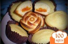 Фото рецепта: «Манные кексы с курагой»