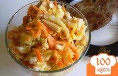 Фото рецепта: «Салат со спаржей и пекинской капустой»