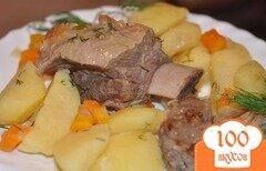 Фото рецепта: «Тушеная картошка с ребрышками»