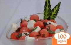 Фото рецепта: «Салат из арбуза и феты»