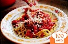 Фото рецепта: «Спагетти с фрикадельками»