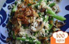 Фото рецепта: «Рис с фасолью и грибами»
