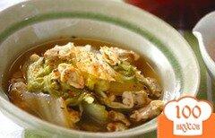 Фото рецепта: «Тушеная китайская капуста с мидиями»