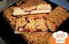 Фото рецепта: «Песочный пирог с джемом»