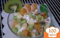 Фото рецепта: «Мороженое с фруктами»