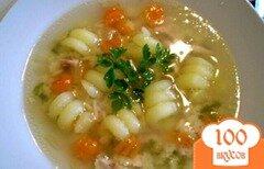 "Фото рецепта: «Суп с пастой и курицей ""Спиралька""»"