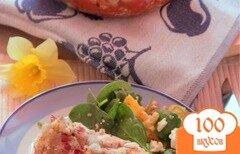 Фото рецепта: «Куриные грудки на томатной сальсе, под брынзой»