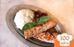 Фото рецепта: «Сливочное ризотто с лососем на гриле»