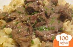 Фото рецепта: «Бефстроганов с грибами»