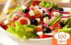 Фото рецепта: «Салат греческий с бальзамическим уксусом»