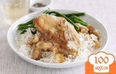 Фото рецепта: «Бефстроганов из курицы с грибами»