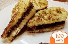 Фото рецепта: «Молочные сендвичи с ореховым маслом»
