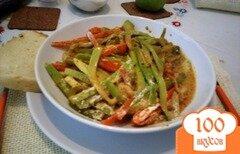 Фото рецепта: «Легкий обед со сметанным соусом»