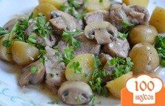 Фото рецепта: «Ужин с картофелем и свининой»