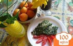 Фото рецепта: «Омлет со шпинатом и пармезаном.»