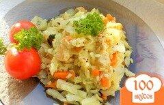 Фото рецепта: «Капуста с рисом в мультиварке»