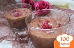 Фото рецепта: «Шоколадный крем-мусс с малиной»
