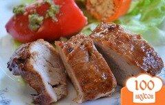 Фото рецепта: «Свиная вырезка в маринаде барбекю»