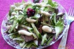 Фото рецепта: «Салат с куриной печенью»