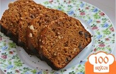 Фото рецепта: «Апельсиновый кекс с изюмом и орехами»