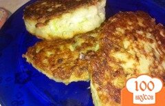 Фото рецепта: «Кабачковые оладьи с сыром и укропом»