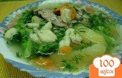Фото рецепта: «Куриный суп с брокколи и клёцками.»