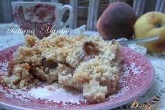 Фото рецепта: «Персиково-грушевый крамбль с пряностями»