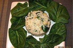 Фото рецепта: «Рис с сельдереем и шпинатом»