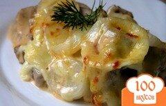 Фото рецепта: «Язык, запеченный под сыром»