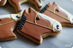 """Фото рецепта: «Печенье """"Лошадь""""»"""