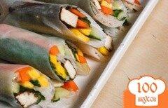 Фото рецепта: «Роллы весенние с маринованным тофу»