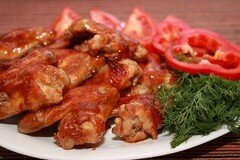 Фото рецепта: «Куриные крылья в кисло-сладком соусе»