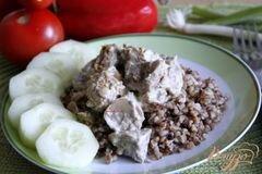 Фото рецепта: «Свинина в творожно-горчичном соусе»