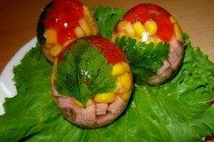Фото рецепта: «Заливное Яйца Фаберже»