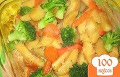 Фото рецепта: «Картофель с брокколи»
