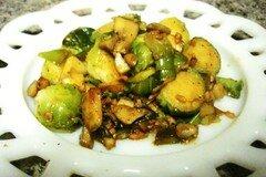 Фото рецепта: «Теплый салат из брюссельской капусты»