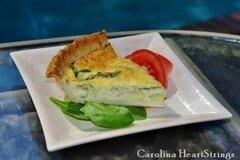 Фото рецепта: «Пирог Киш с шпинатом и артишоками»