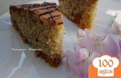 Фото рецепта: «Миндальный пирог с персиками»