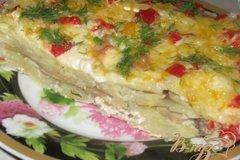 Фото рецепта: «Гратен из картофеля с грибами»