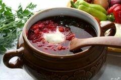 Фото рецепта: «Борщ с грибами и фасолью»