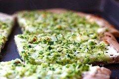 Фото рецепта: «Пицца с сыром и кабачками цуккини»