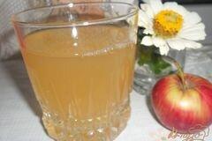 Фото рецепта: «Компот мятный с абрикосами и яблоком»